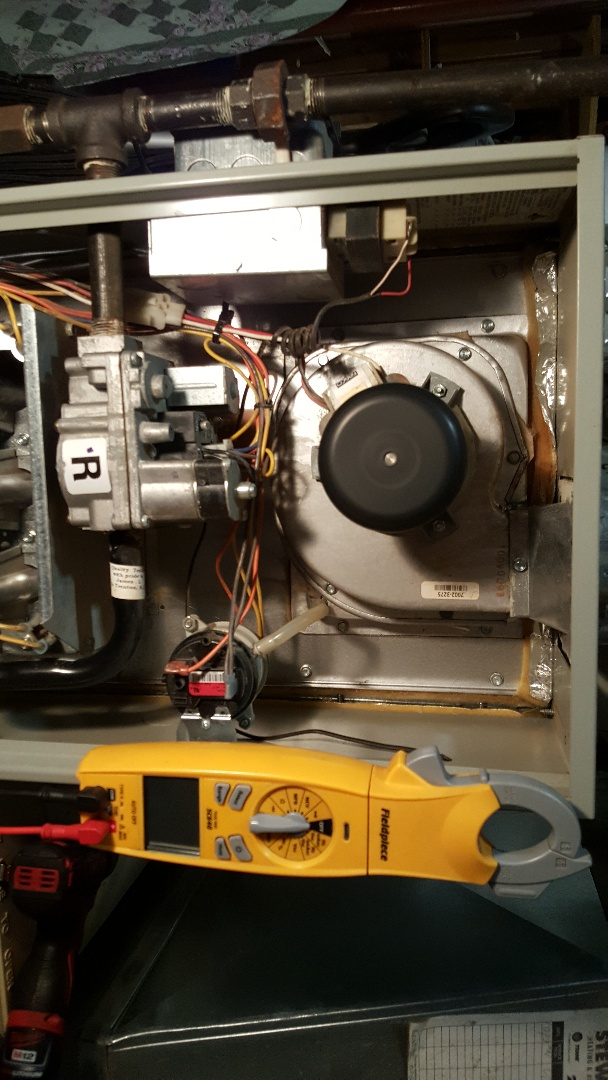 Dixon, IL - Seasonal maintenance on a Trane furnace.