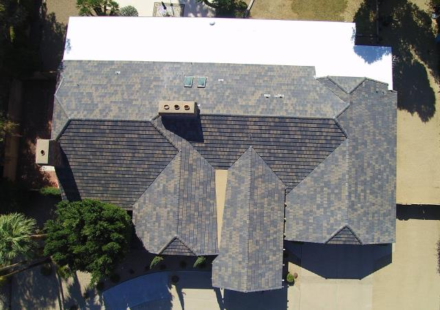 Glendale, AZ - Completed new Eagle Tile roof replaced a Wood Shake roof.