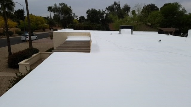 Scottsdale, AZ - Tore off 3 layer flat roof and installed a foam roof system