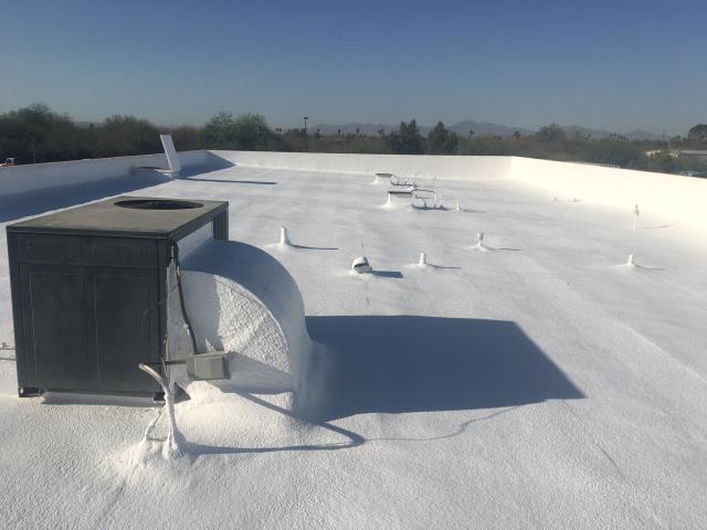 Glendale, AZ - New foam roof in Glendale, AZ