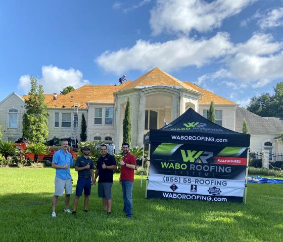 Jersey Village, TX - Our owners proudly stand behind (and in front of, lol) every roofing system we intall!  #ReRoof #InsuranceClaim #NewRoof #WeAreWABO