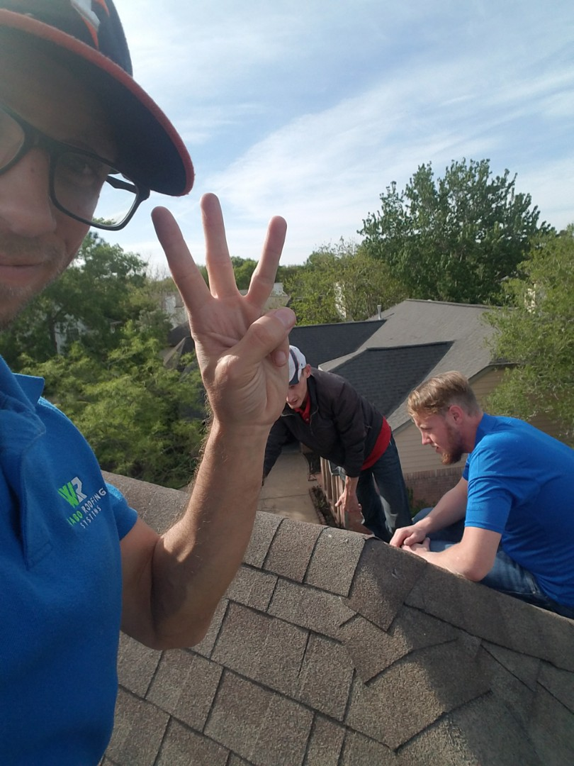 Sugar Land, TX - Out here in Sugar Land, TX givingnhimeowners the peace of mind with free roof inspections! Our third customer on this beautiful day!