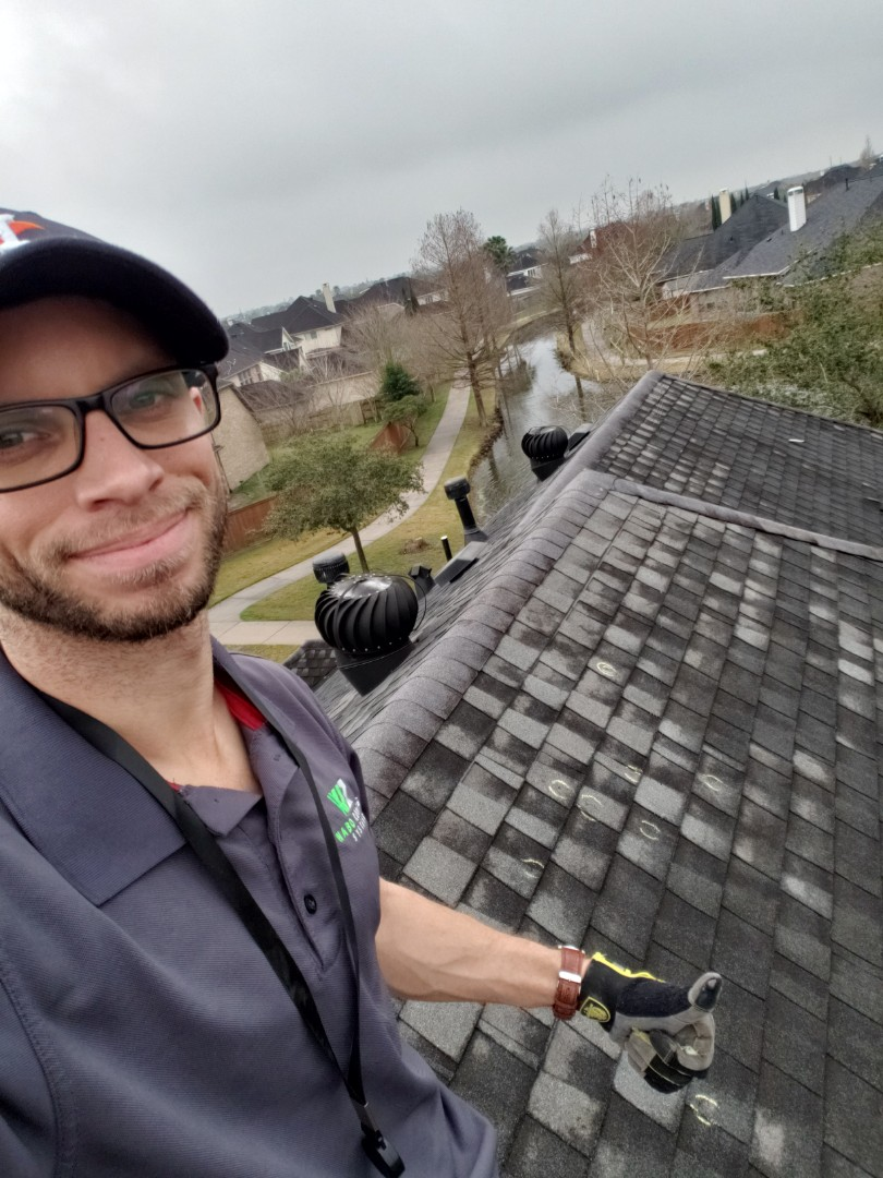 Manvel, TX - In Manvel, TX helping homeowners have their insurance pay for hail damage on their roof.