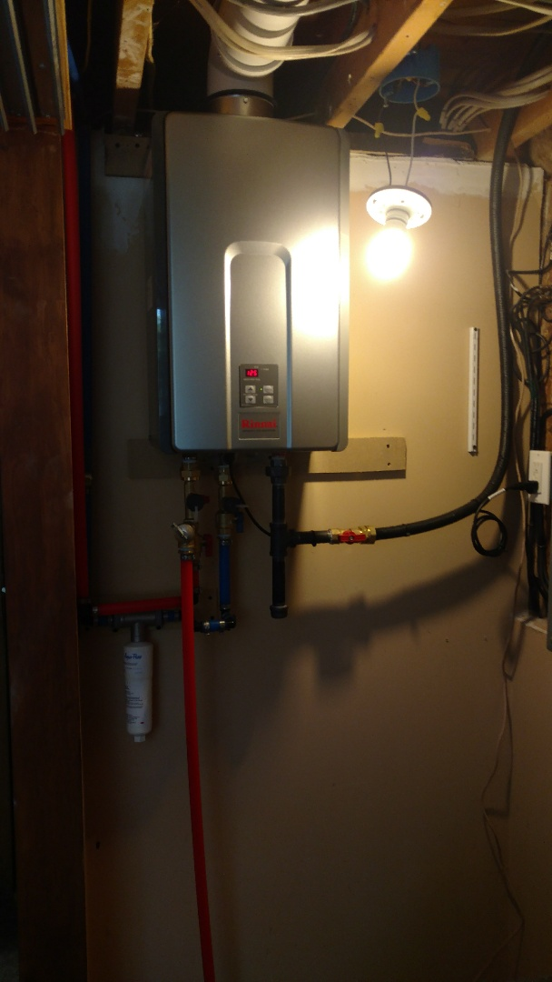 Kunkletown, PA - Installed a new Rinnai tankless propane heater