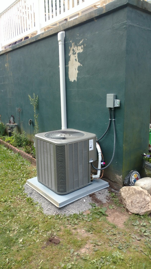 Jim Thorpe, PA - Installed a new Lennox air conditioning system in Jim Thorpe