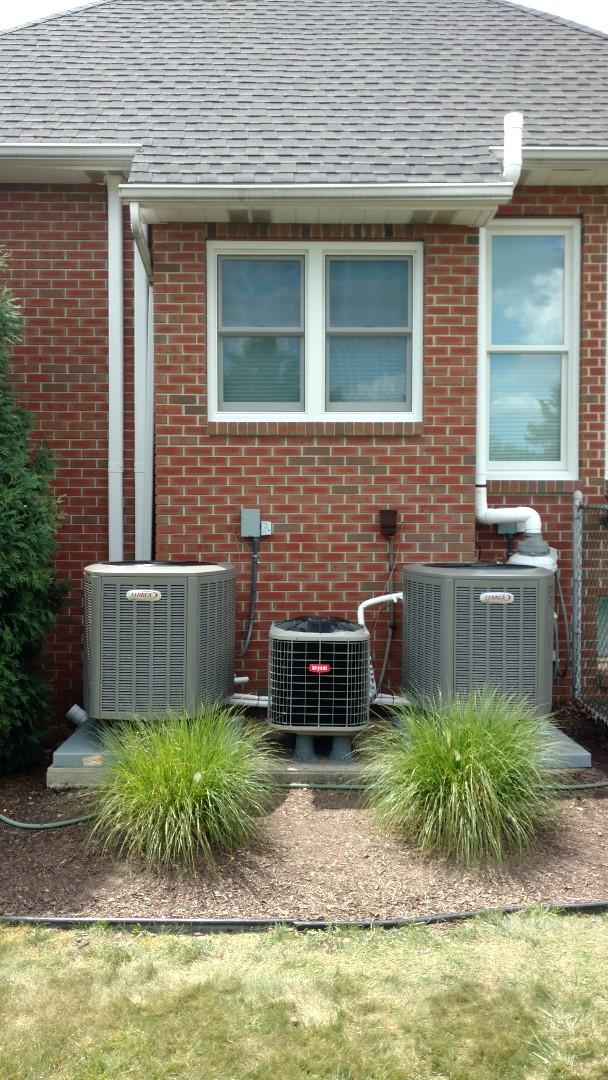 Kunkletown, PA - Installed 2 new Lennox Heat Pump systems in Beltsville