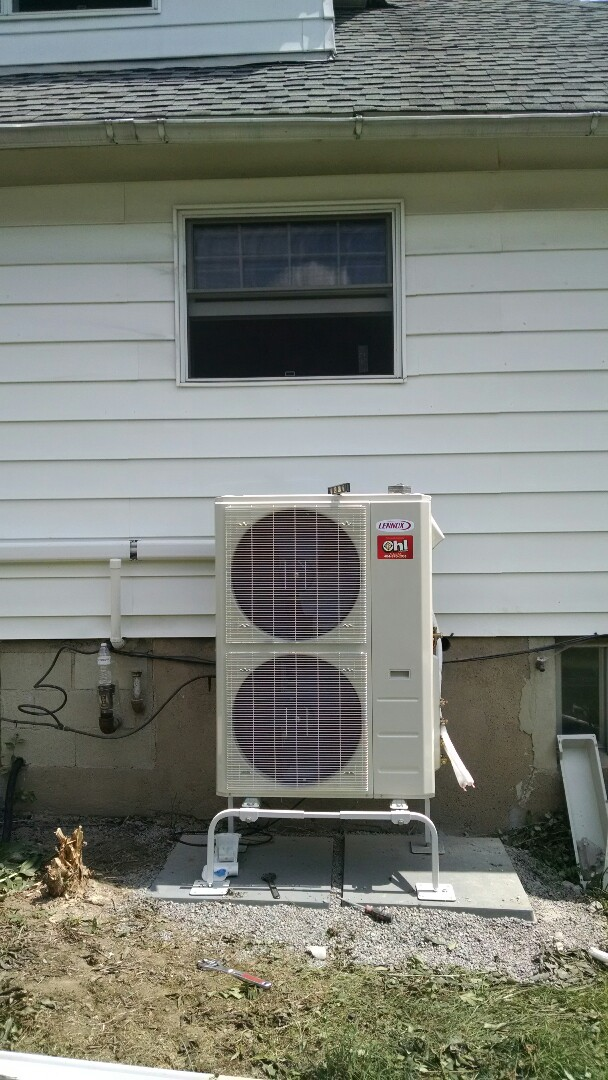 Summit Hill, PA - 3 zone Lennox ductless heat pump installation near summit hill.