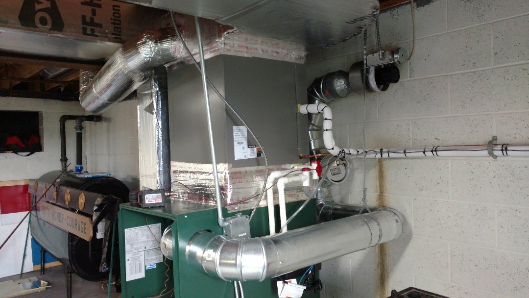 Andreas, PA - Installed a new Lennox ac split system in Andreas