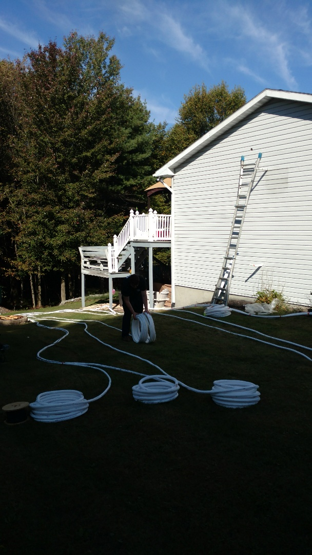 Palmerton, PA - Installing a new Lennox Ductless heat pump system in Palmerton