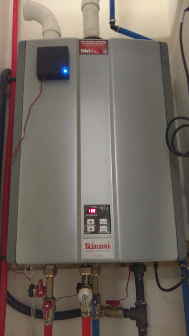 East Stroudsburg, PA - Installed a new propane Rinnai tankless water heater in East Stroudsburg