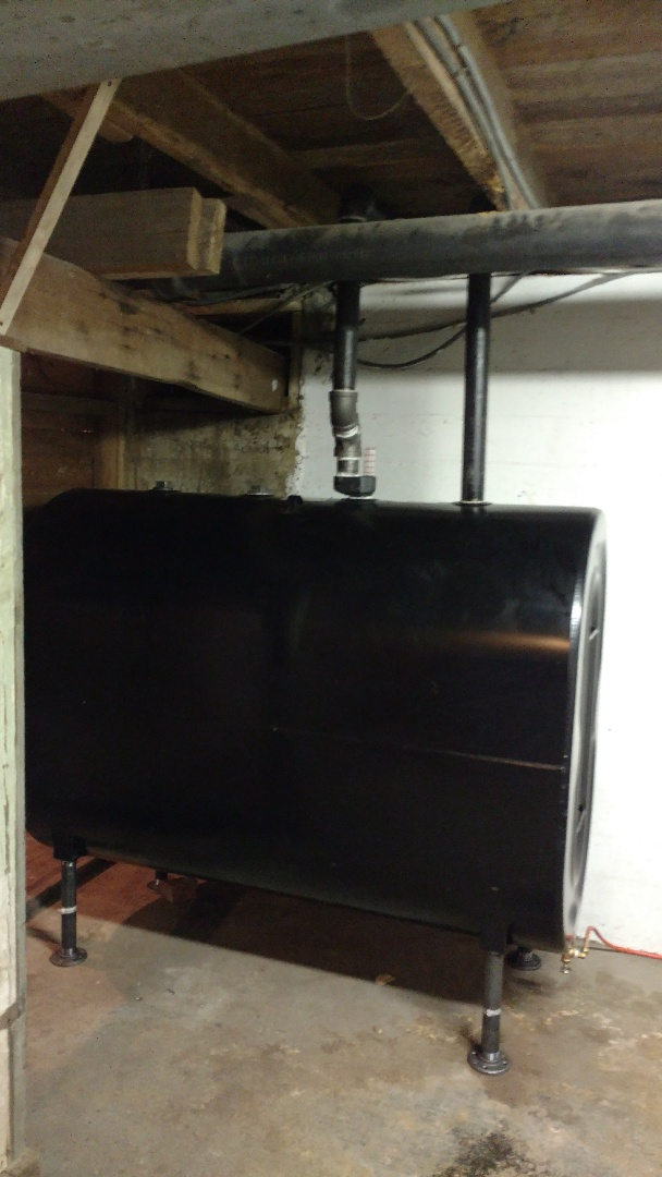 East Stroudsburg, PA - Installed a new oil tank in East Stroudsburg