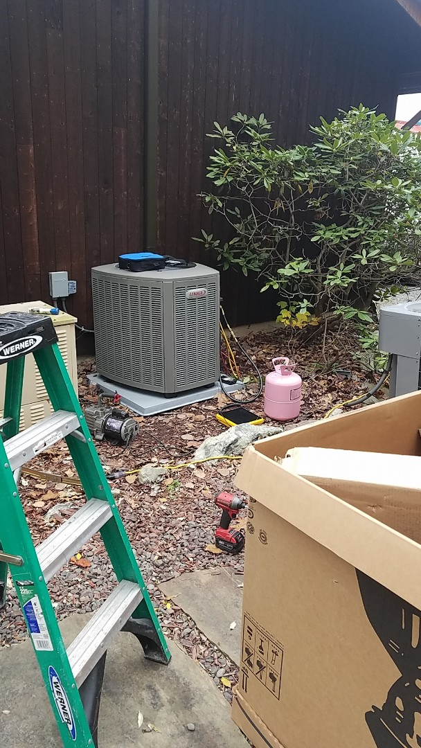 New Ringgold, PA - Installing Lennox gas furnace/outdoor unit/AC coil in New Ringgold.