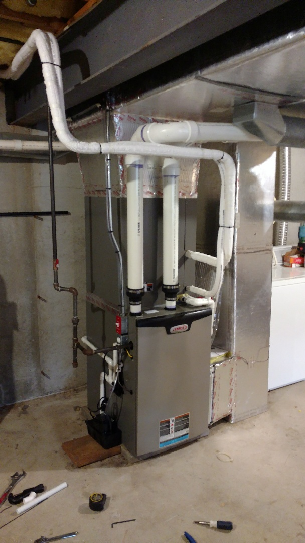 New Ringgold, PA - Installed a new Lennox propane gas furnace with air conditioning system in New Ringgold