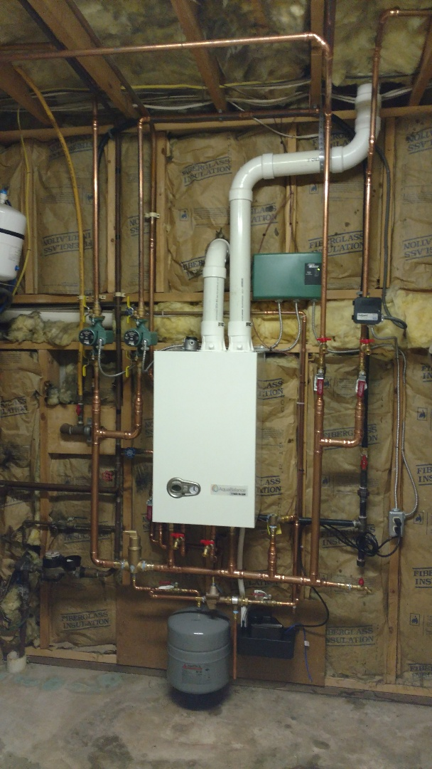 Nesquehoning, PA - Installed a new propane Weil-McLain on demand hot water boiler with domestic hot water in Nesquehoning