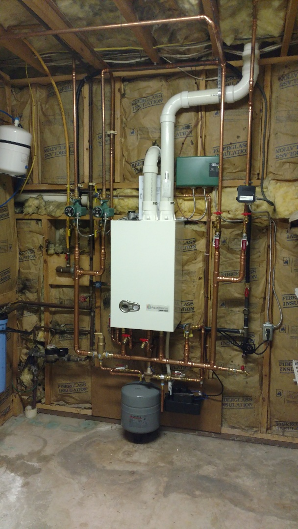 Nesquehoning, PA - Installed a new Weil-McLain propane on demand boiler with domestic hot water in Nesquehoning