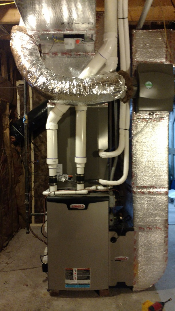 Effort, PA - Installed a new Lennox propane gas furnace with a 5 ton heat pump and an iharmony zone control system in Brodheadsville