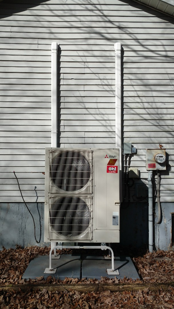 Kunkletown, PA - Installed a new Mitsubishi Ductless heat pump system in Kunkletown