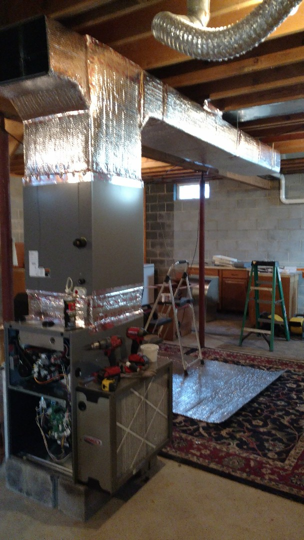 Saylorsburg, PA - Installing a new ductwork system in Brodheadsville