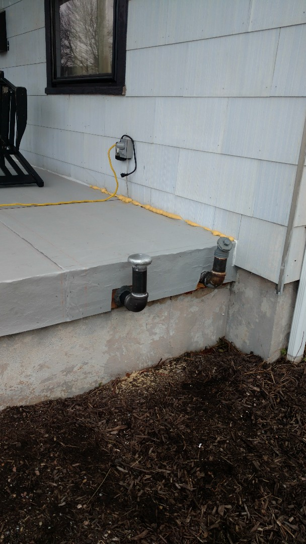 """Palmerton, PA - Installed a new 2"""" oil vent pipe in Palmerton"""