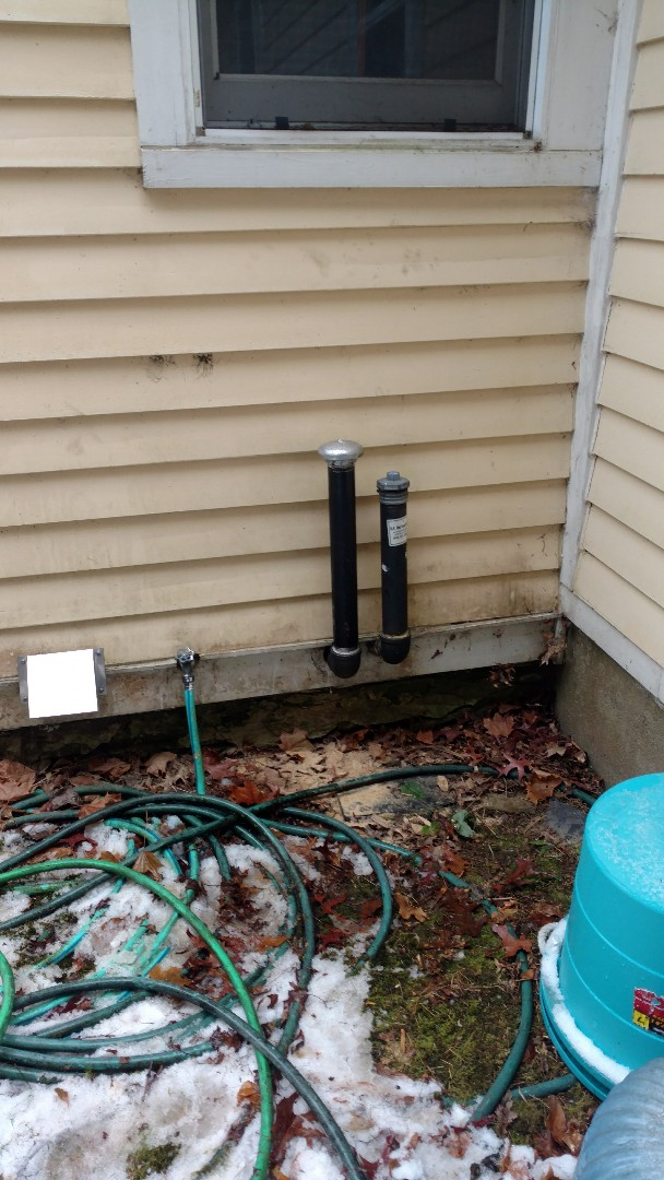 """Palmerton, PA - Installed a new 2"""" vent pipe on an oil tank in Palmerton"""