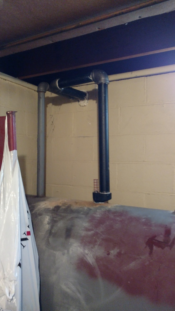 """Catasauqua, PA - Installed a new 2"""" vent pipe on an oil tank"""
