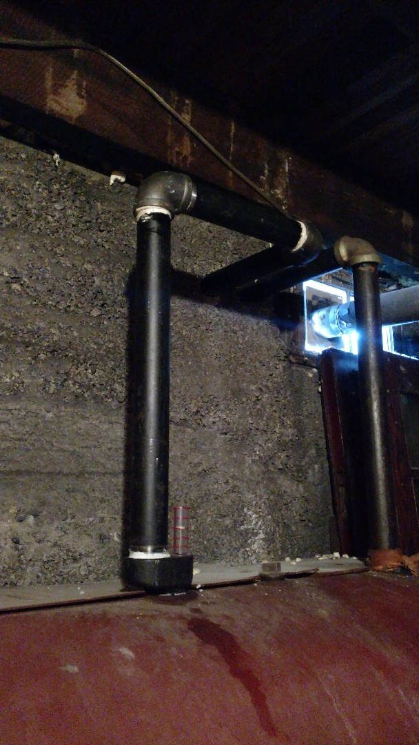"""Lehighton, PA - Installed a new 2"""" vent pipe on an oil tank in Lehighton"""