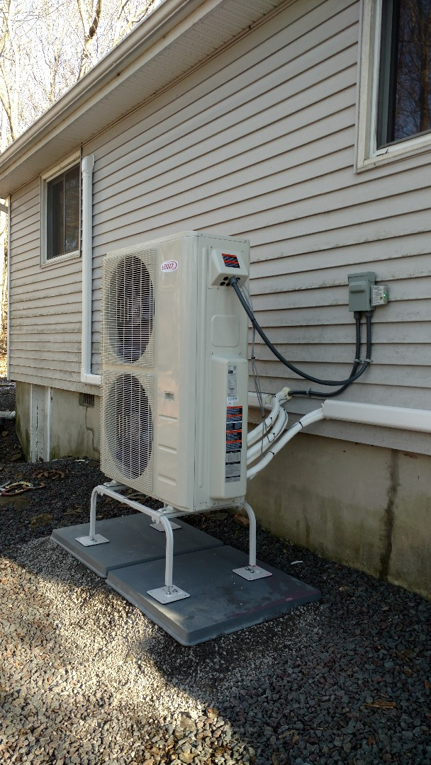 Albrightsville, PA - Installed a new Lennox Ductless heat pump system in Albrightsville