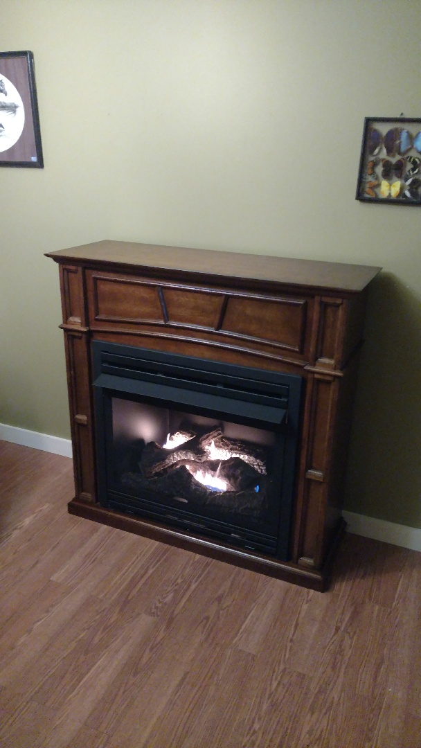 Jim Thorpe, PA - Installed a new propane fireplace mantle in Jim Thorpe