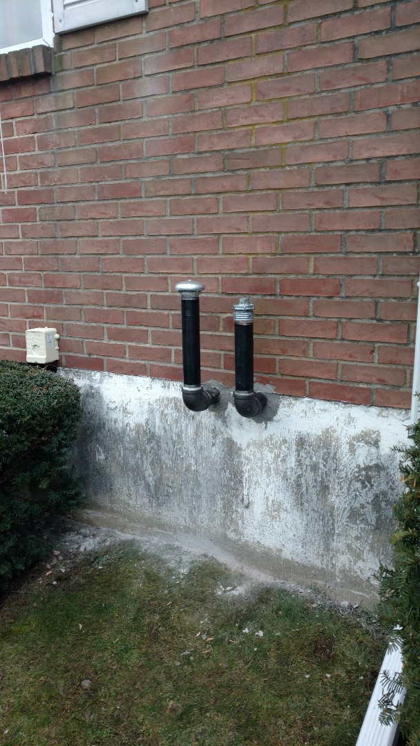 "Northampton, PA - Installed a 2"" vent and fill pipes on an oil tank in Northampton"