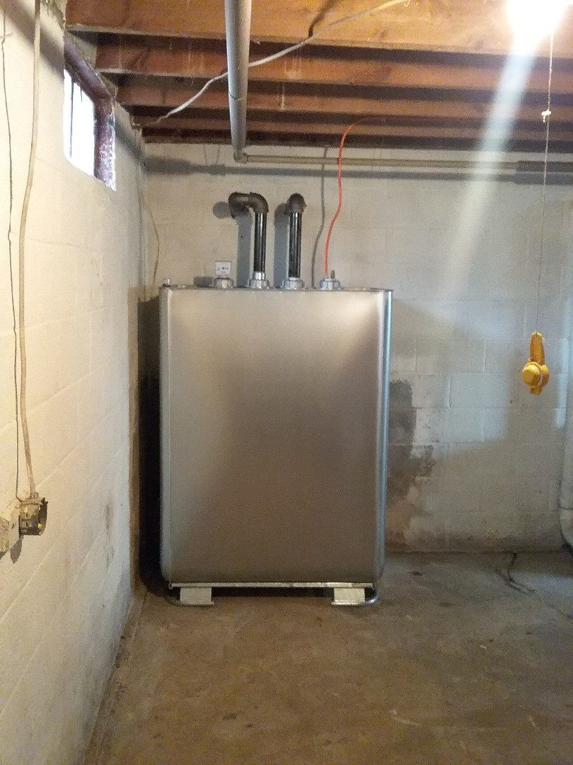 Kunkletown, PA - Replacing oil tank in Kunkletown. Upgraded to Granby double wall tank.