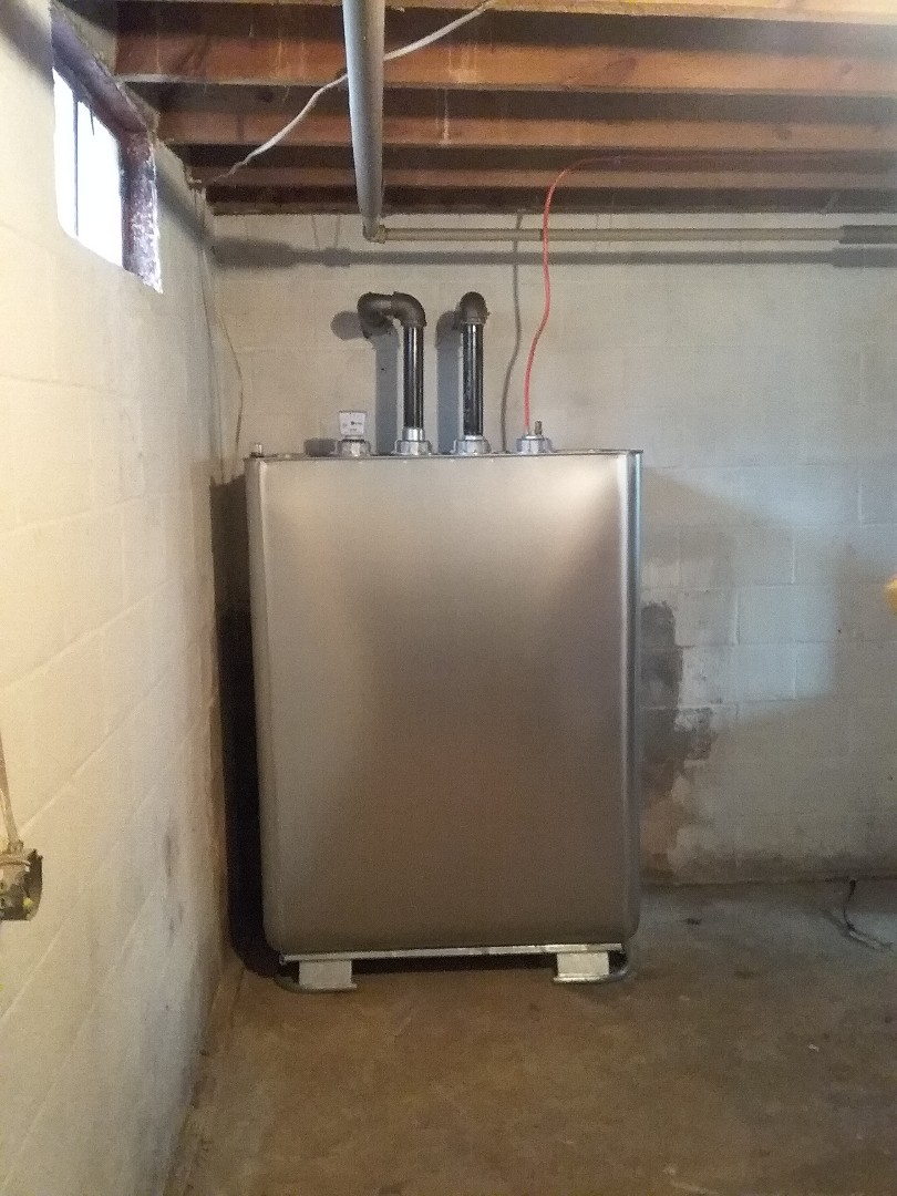 Kunkletown, PA - Installed a new Granby oil tank with an oil line and filter in Kunkletown