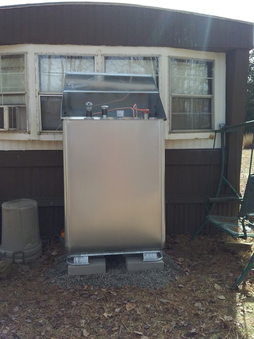 Lehighton, PA - Replaced oil tank in Lehighton. Upgraded to Granby oil tank.
