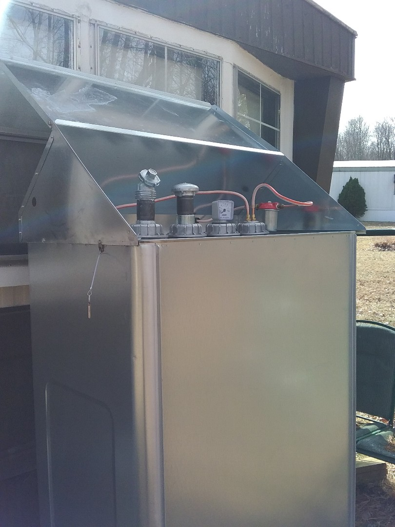 Lehighton, PA - Installed a new Granby oil tank with a water sheild