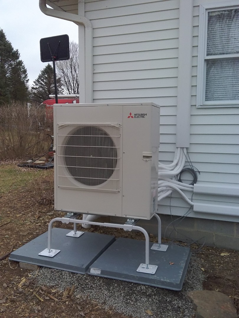 Kunkletown, PA - Installing a new Mitsubishi ductless heat pump system in  Kunkletown