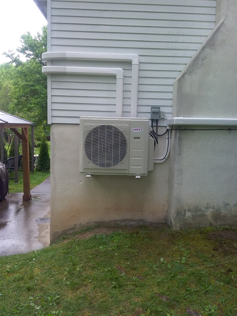 Installed new 3 zone Lennox ductless heat pump system in East Stroudsburg.
