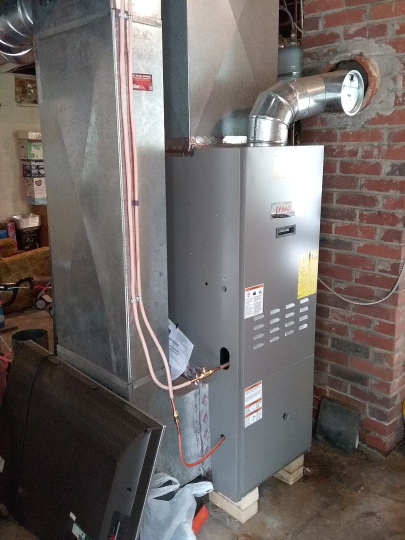 Installing a new Granby oil tank in Slatedale