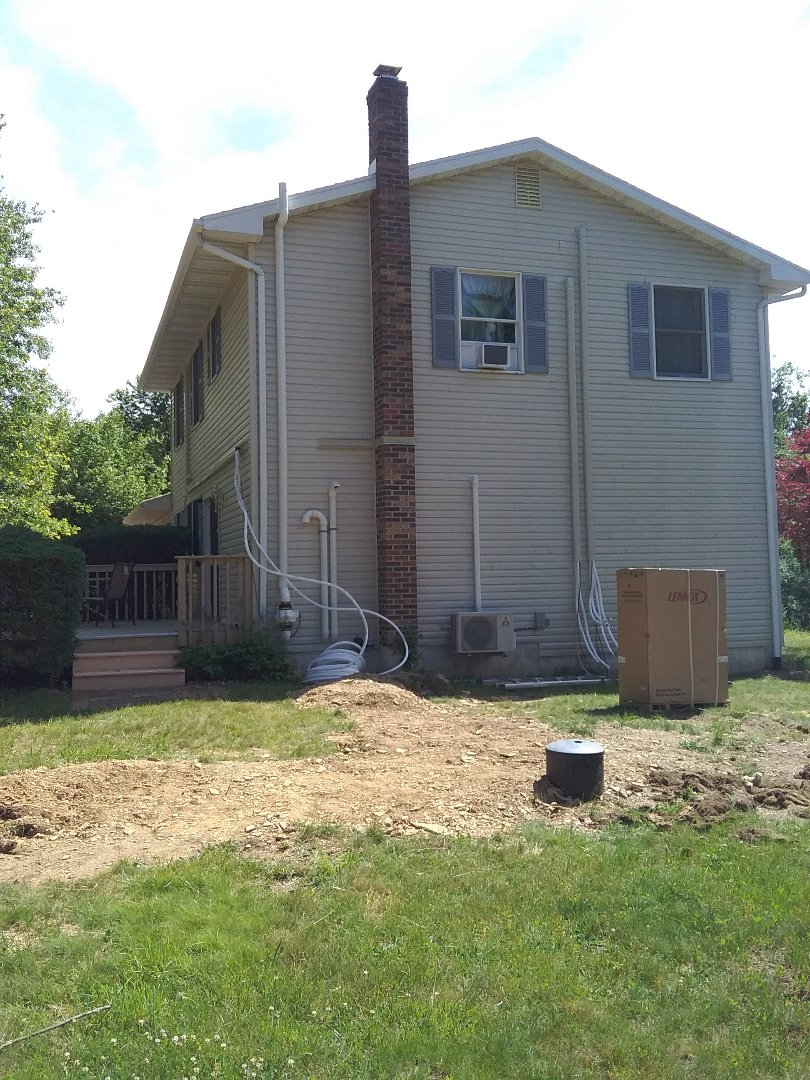 Palmerton, PA - Installing 4 zone Lennox ductless heat pump system in Palmerton.