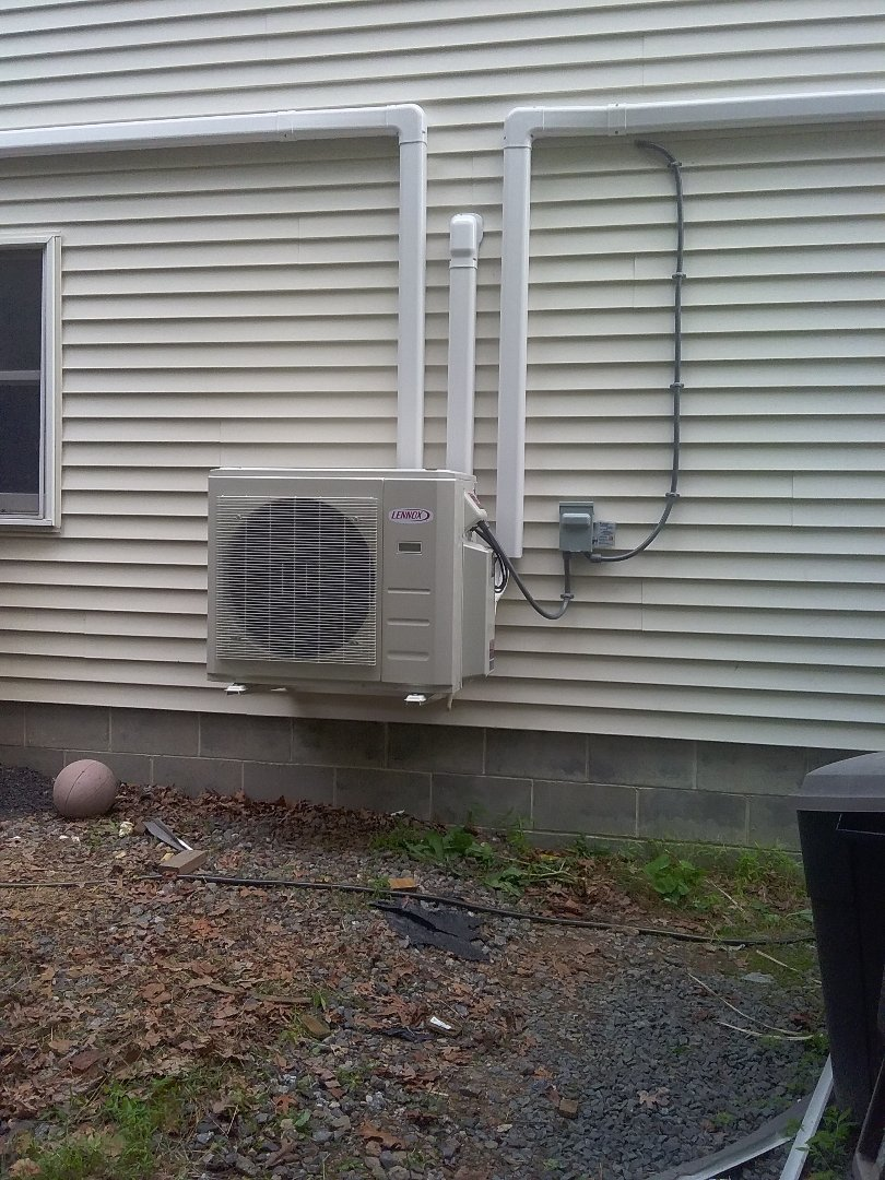 Nesquehoning, PA - Installed 3 zone Lennox ductless heat pump system in Nesquahoning.