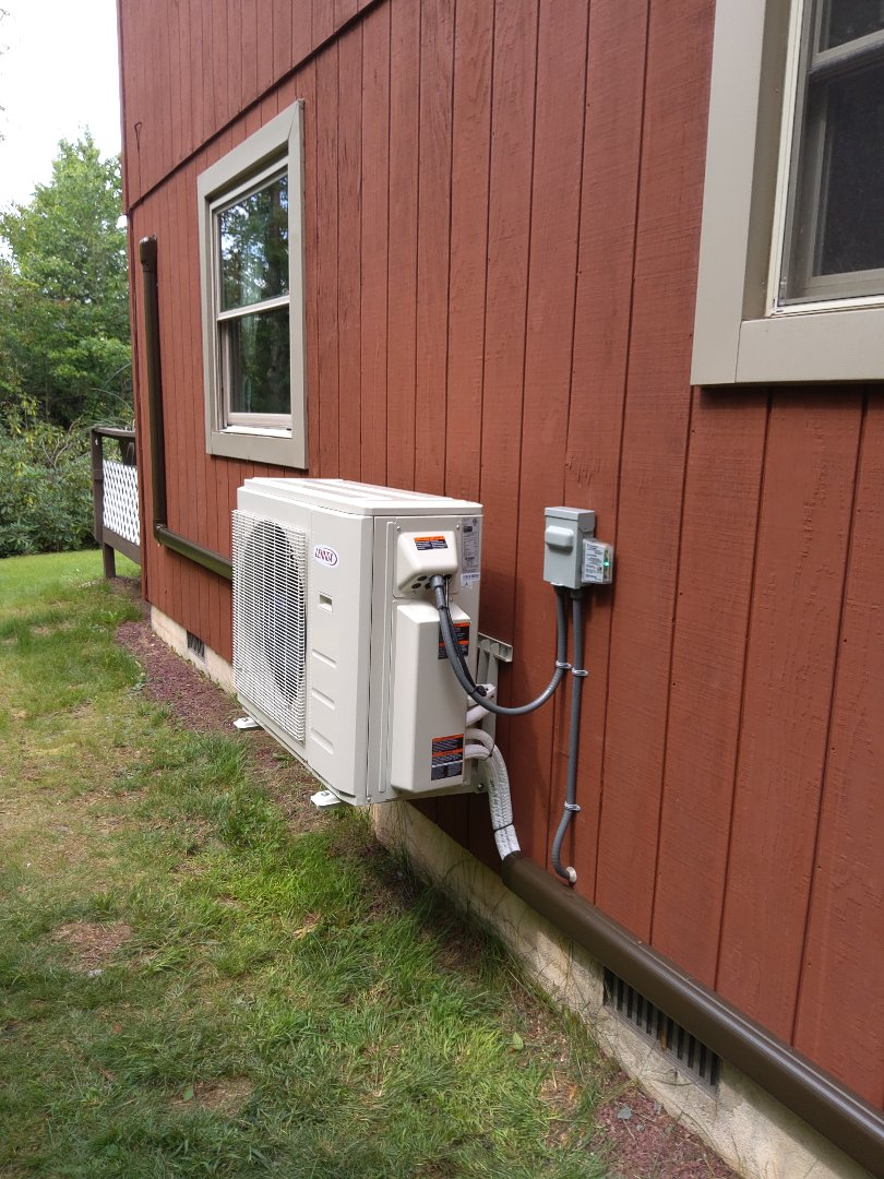 Long Pond, PA - Installed 2 zone Lennox ductless heat pump system in Long Pond.