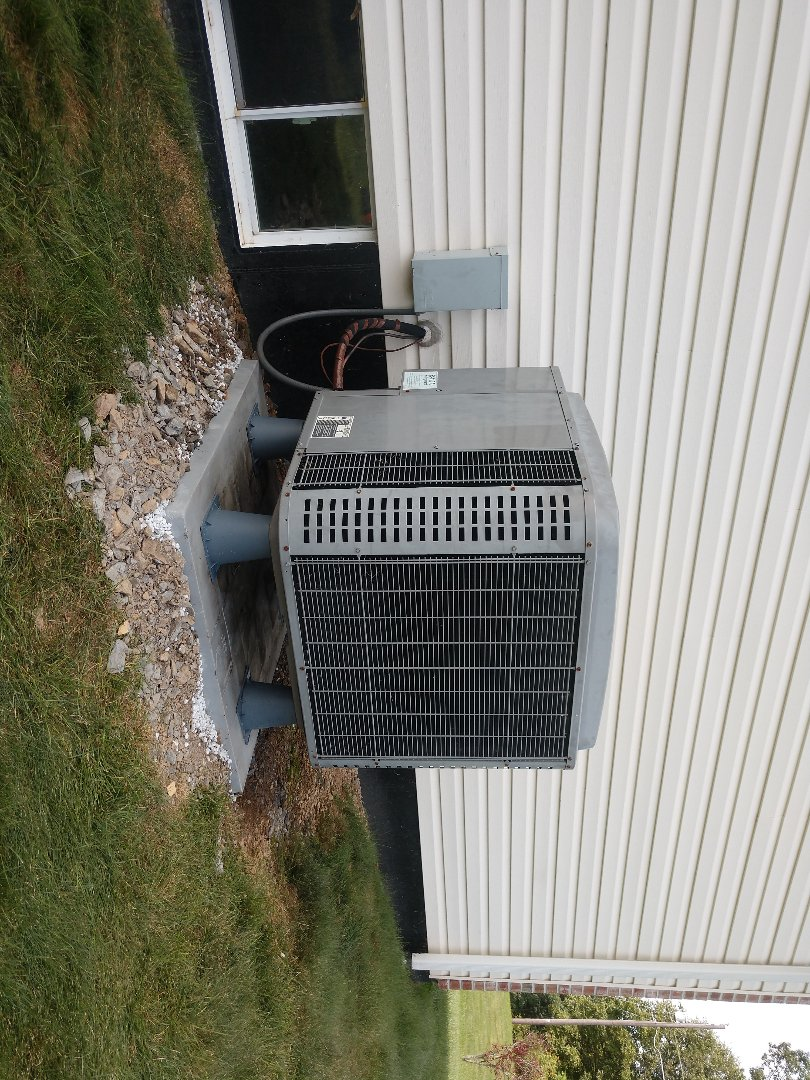 Andreas, PA - Leveled and elevated heat pump in Andreas