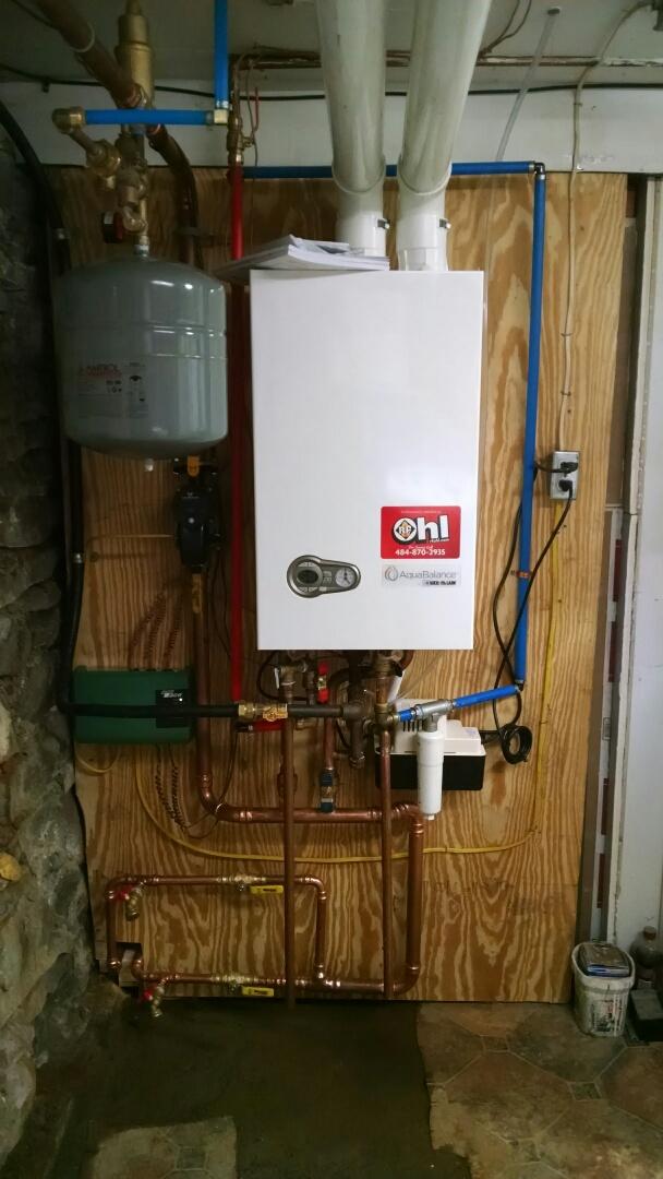 Saylorsburg, PA - Weil McLain Combi boiler installation