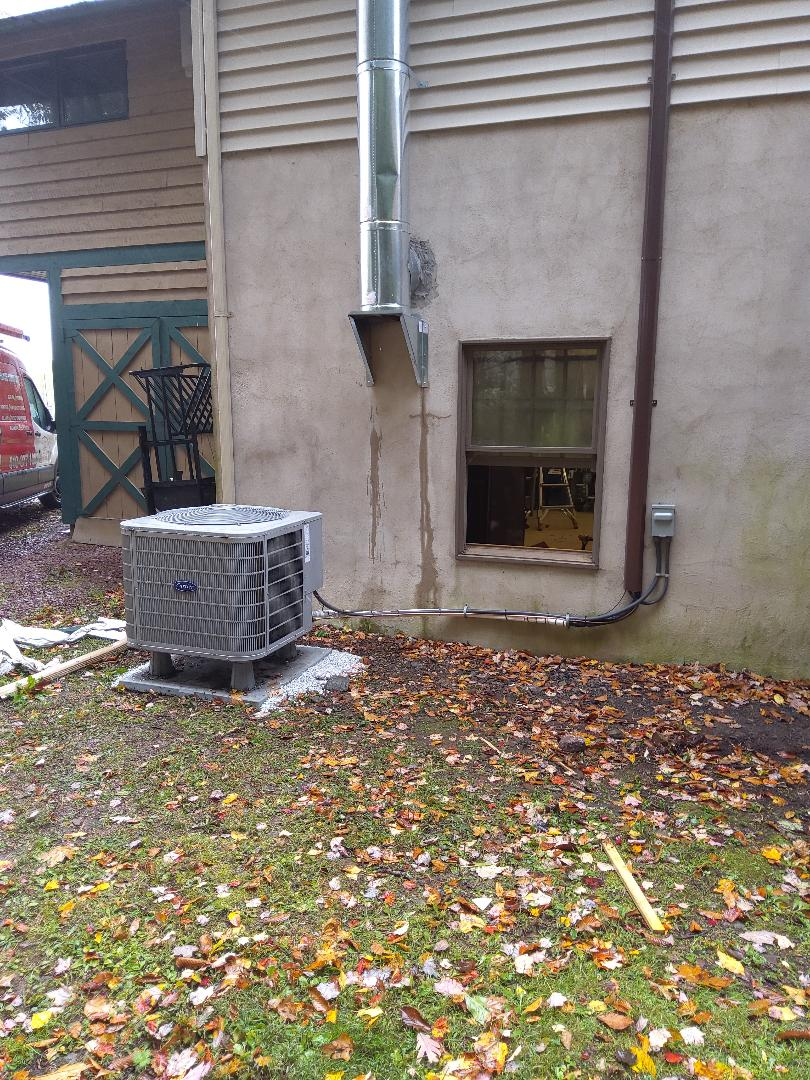 Albrightsville, PA - Relocated a/c system in Albrightsville