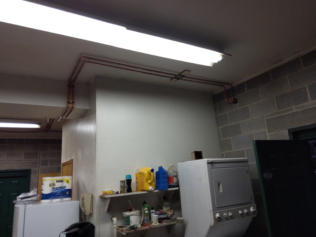 Albrightsville, PA - Installed new 3/4 copper piping for a boiler in Albrightsville