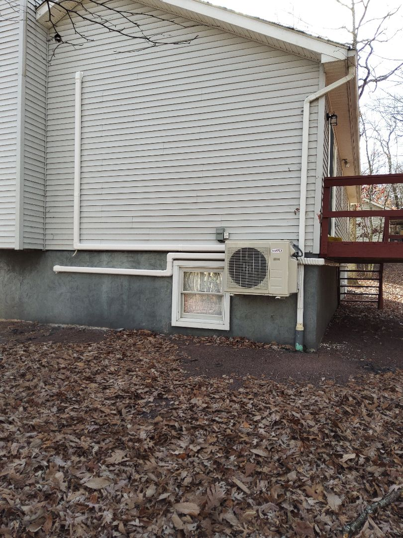East Stroudsburg, PA - Installed 3 zone Lennox ductless heat pump system in East Stroudsburg.