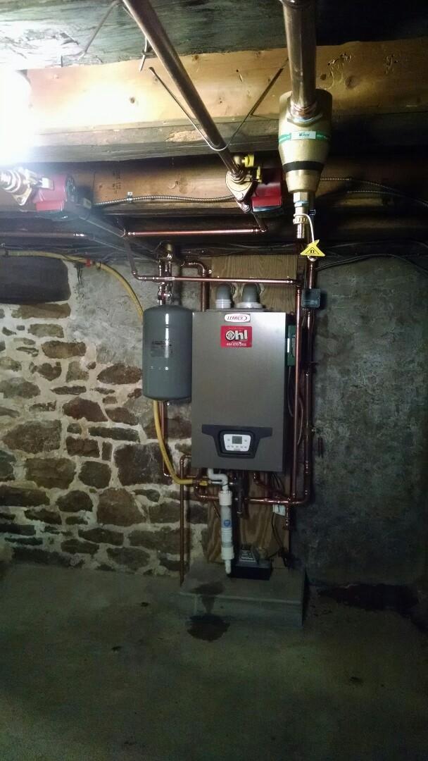 Slatington, PA - Installation of new Lennox combi boiler