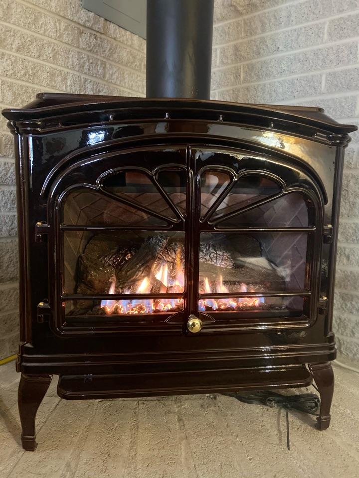 Slatington, PA - Servicing a vented LP Fireplace in slatington