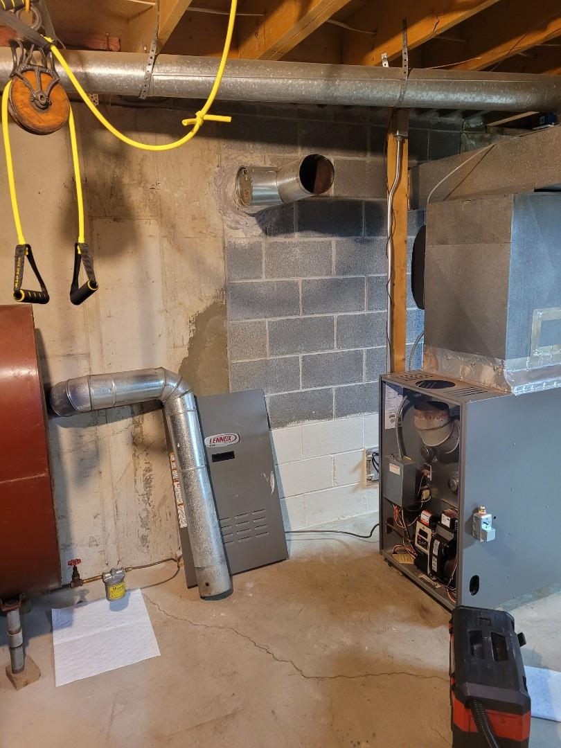 Jim Thorpe, PA - Cleaning oil furnace in bear creal lake , Jim Thorpe, Penn Forrest streams