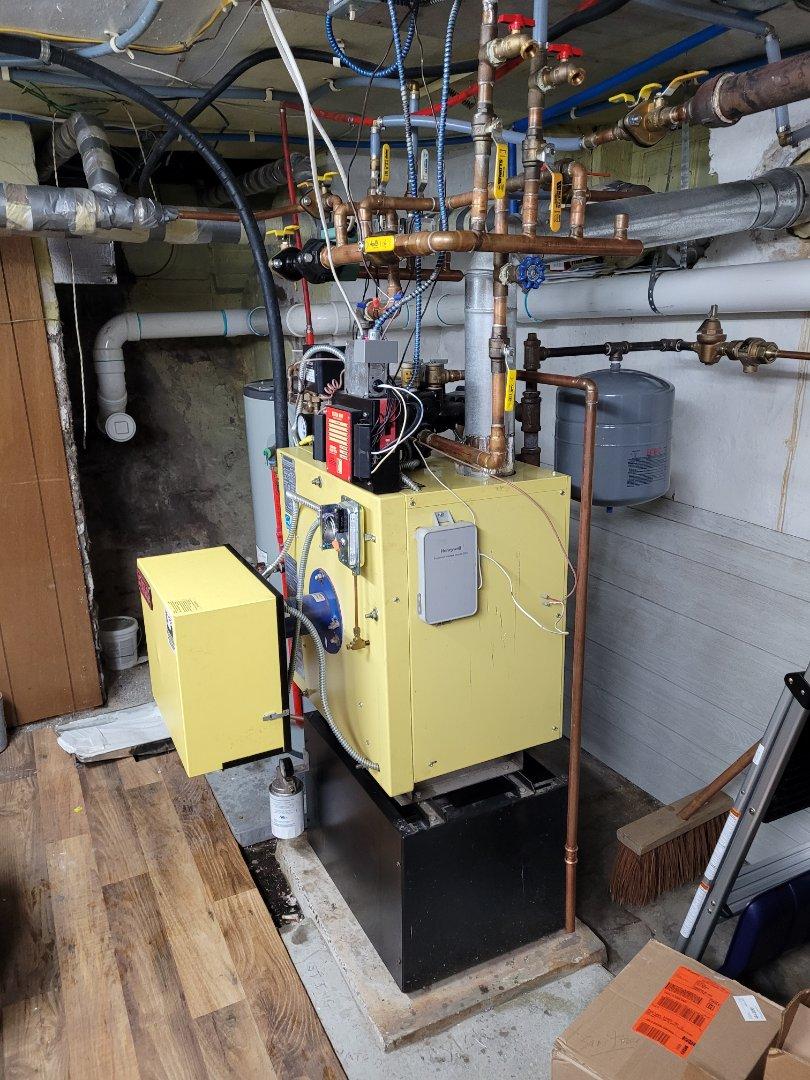 Lehighton, PA - Cleaning energy kinetics boiler in Lehighton pa