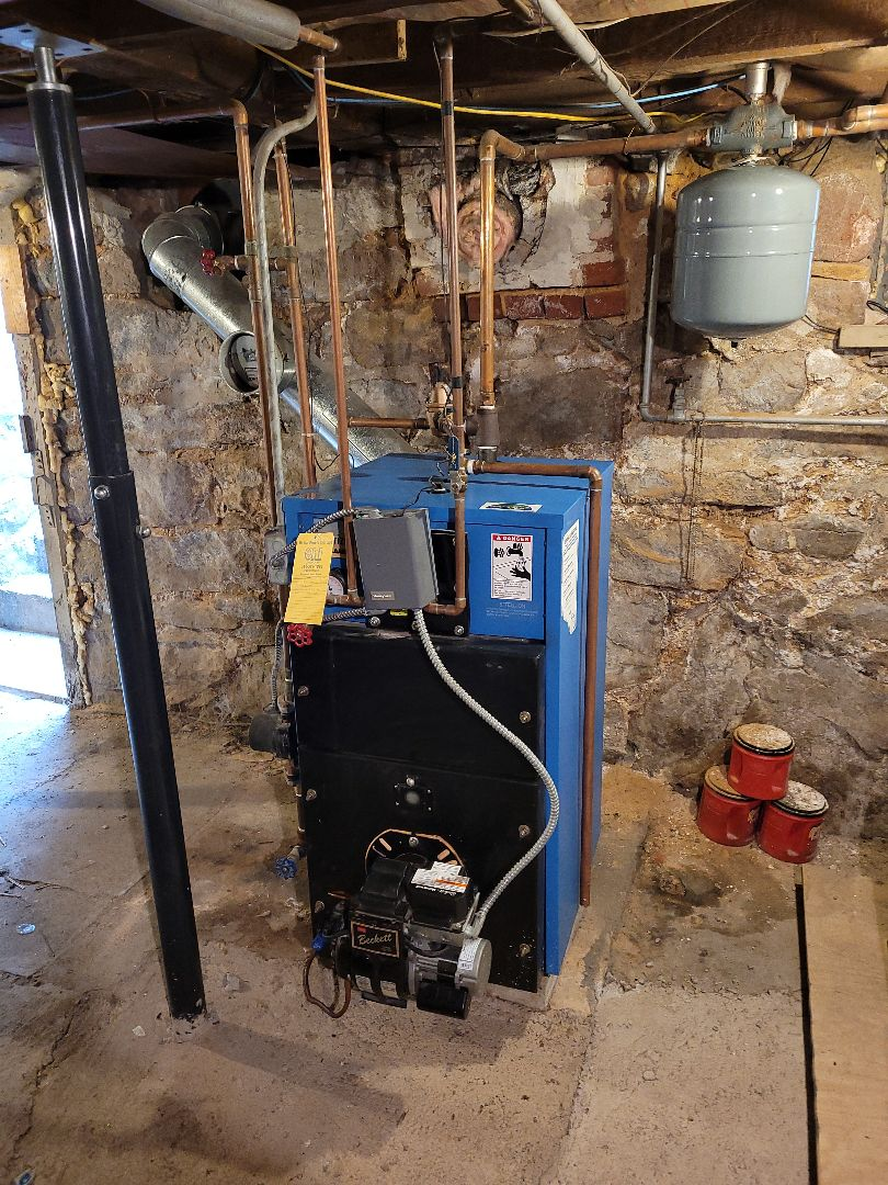 Palmerton, PA - Cleaning oil burner in palmerton