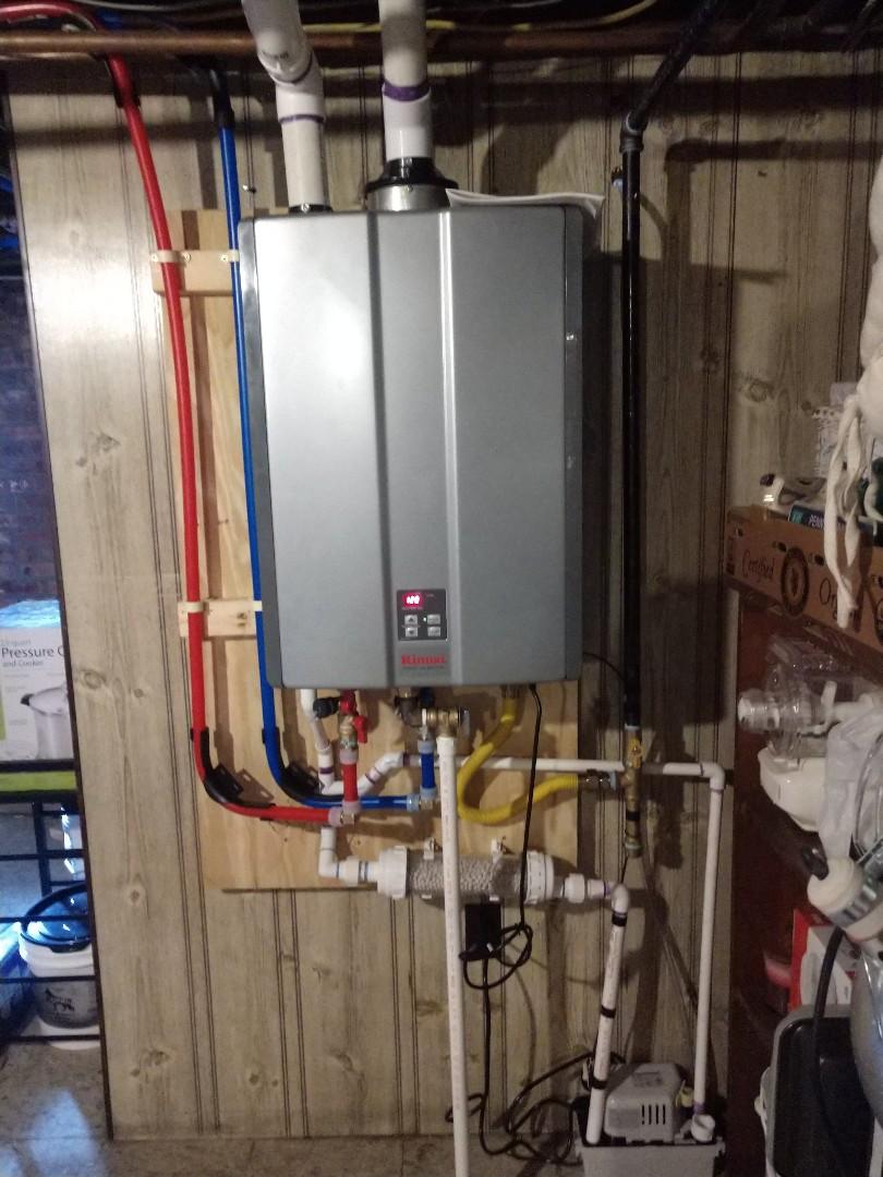 Rinnai tankless water heater installation in Nazareth
